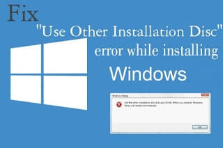 Fix use other installation disc that says 64