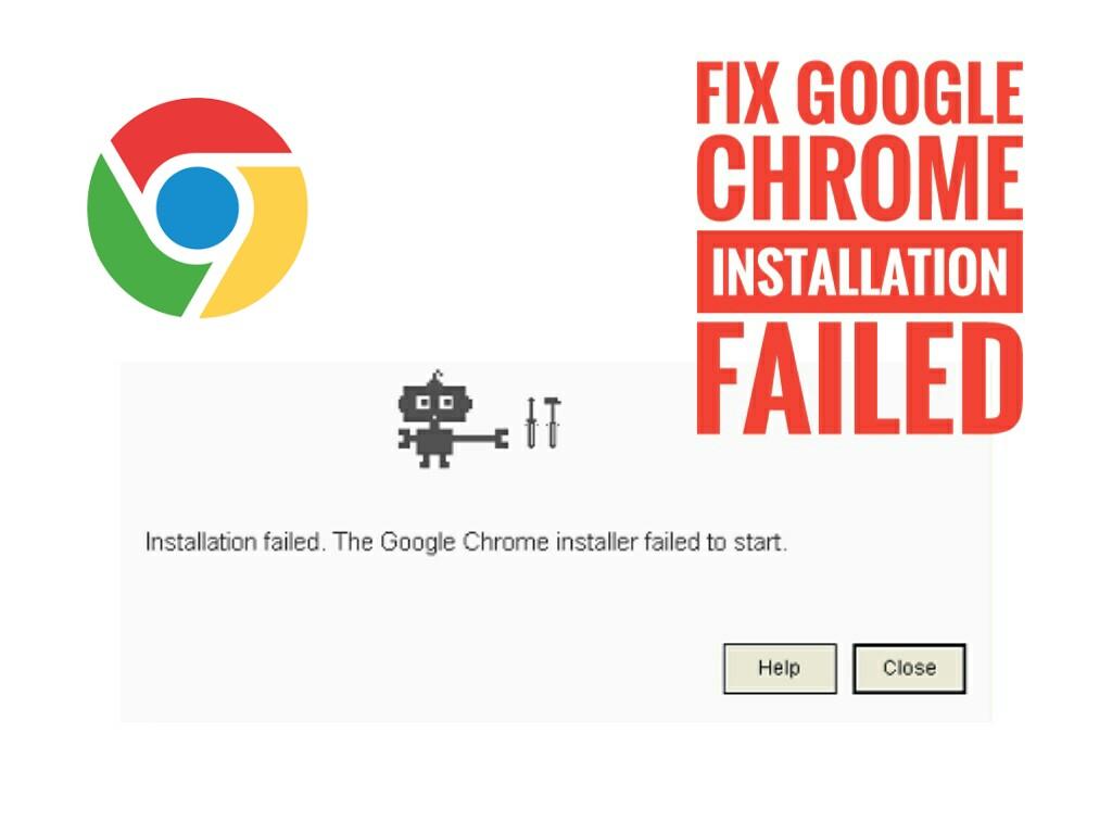 Fix Installation failed the google chrome installer failed to start error