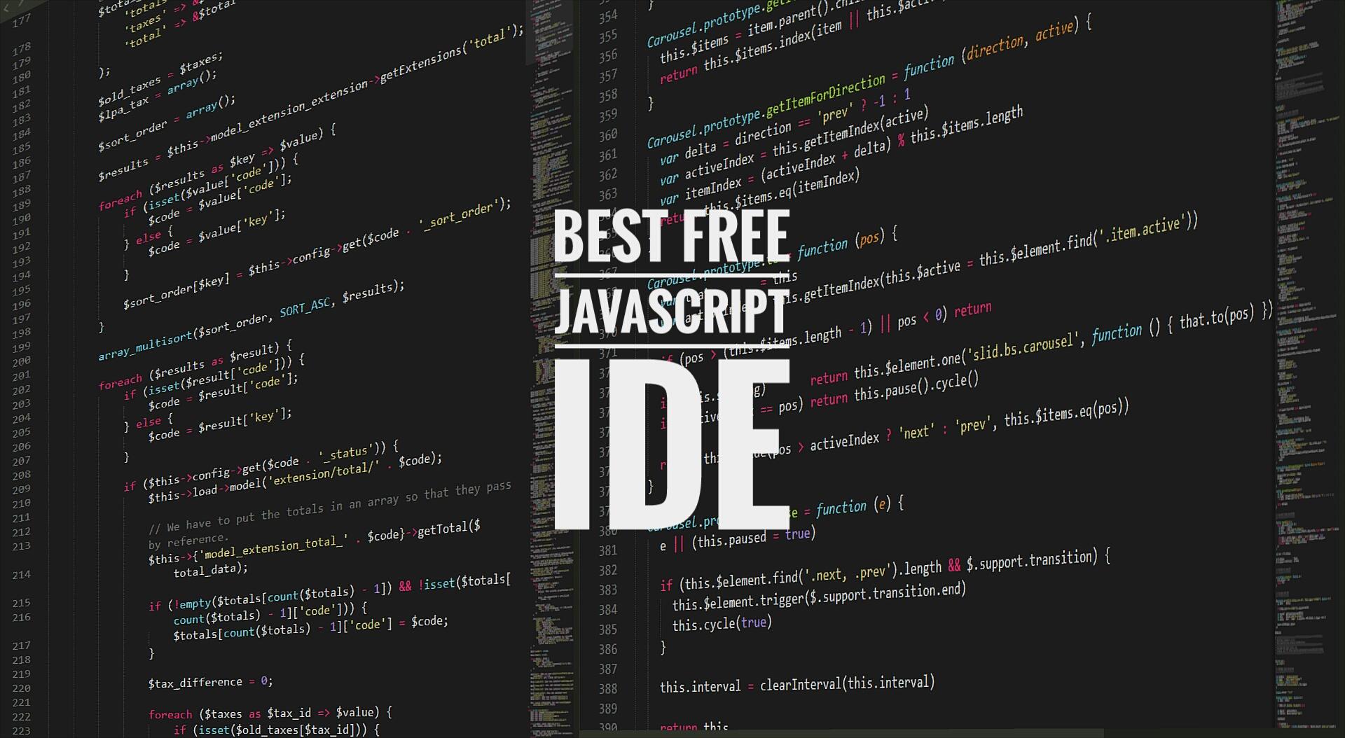 best free JavaScript ide softwares