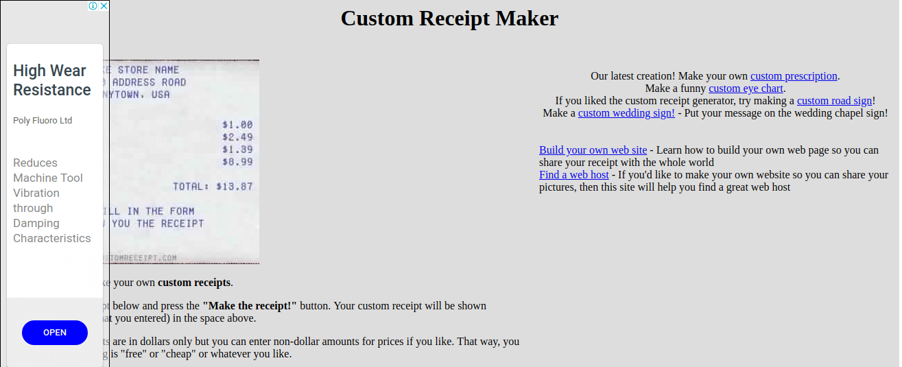 custom receipt maker fake walmart receipt generator