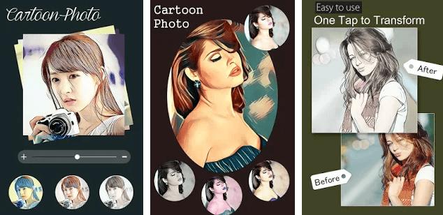 Cartoon photo filter effect