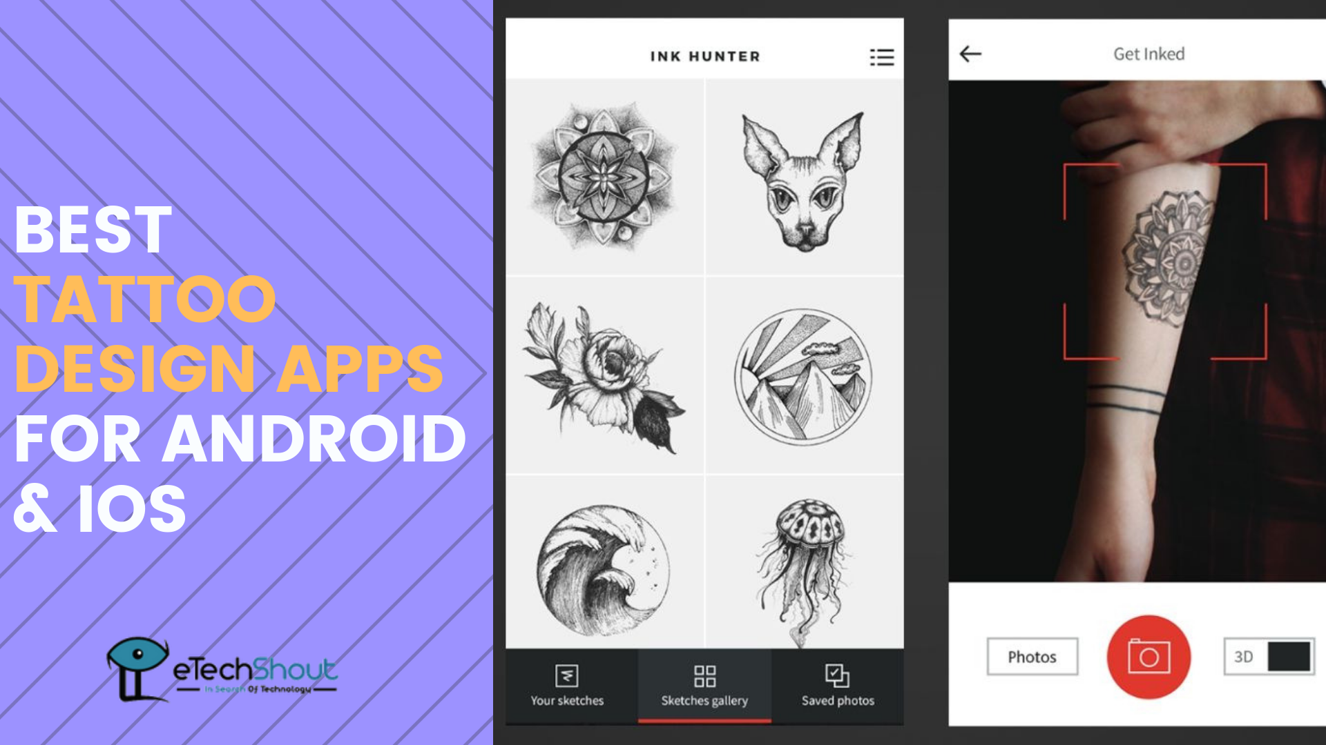 best tattoo design apps for android and ios
