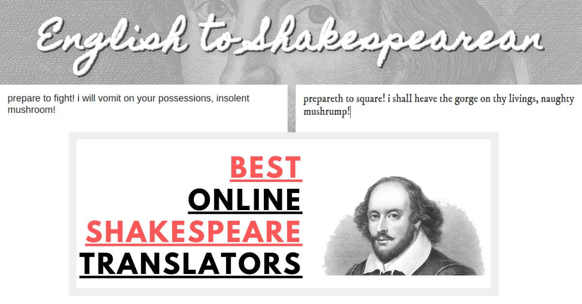 Best Online Shakespeare Translator