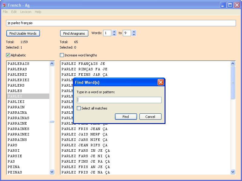 Ag anagram generator software