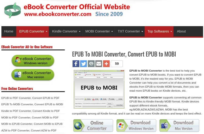 Ebook Converter epub to mobi converter mac
