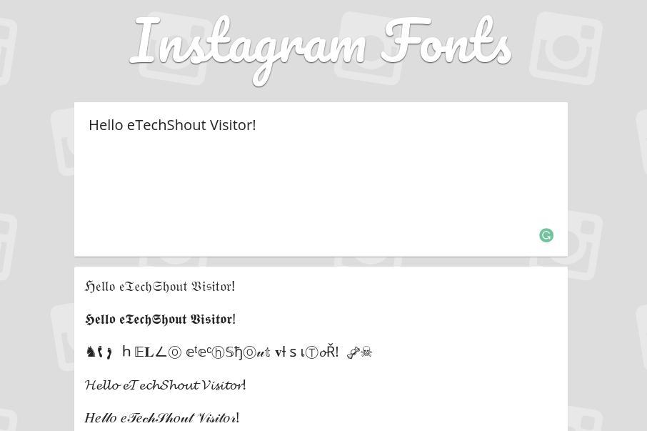 Igfonts instagram font generator