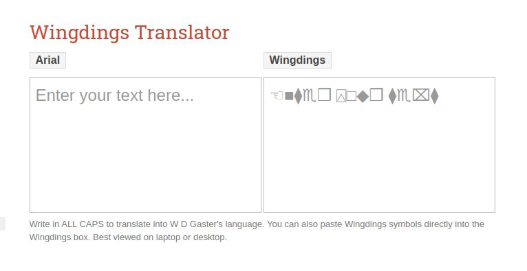 Wingding Translator