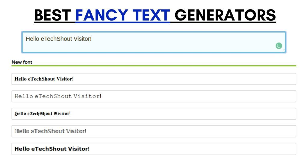 best cool fancy text generator tools
