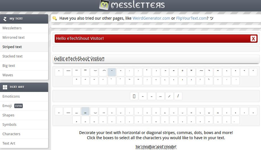 messletters font style changer