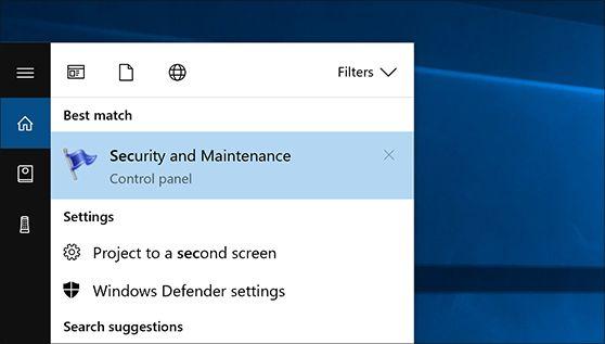 action center Windows 10