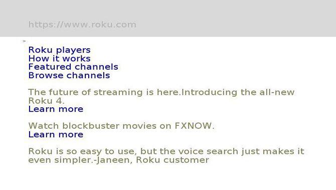 poprism web browser for Roku