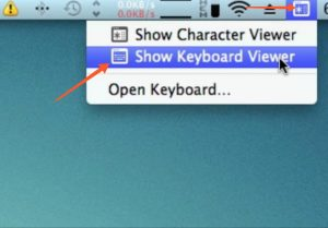 show keyboard viewer mac