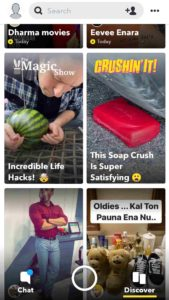 snapchat discover section
