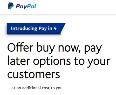 Pay in 4 – Paypal