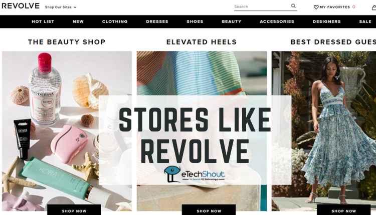 Top stores like Revolve for dresses