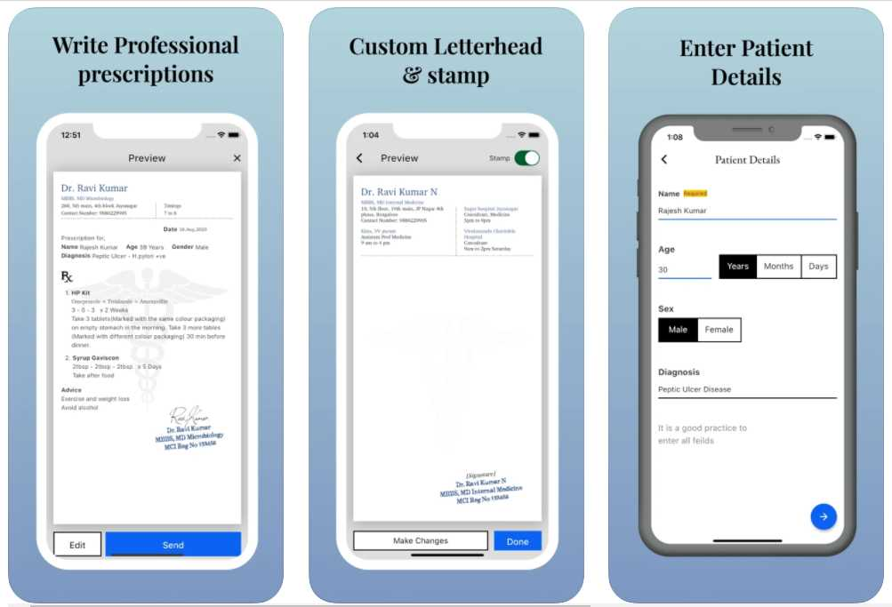 STAT Prescription Maker iOS